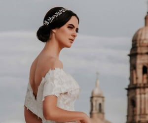 bride, vestido blanco, and novia image