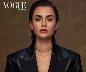 lily collins, photoshoot, and vogue image