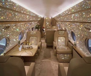 aesthetic, airplane, and bling image