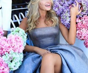 blonde, satin, and Full Skirt image