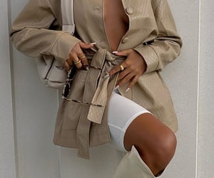 beige, coat, and outfit image