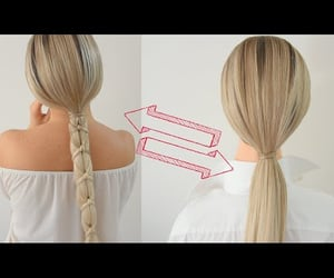 hair, frenchbraid, and hairtrend image