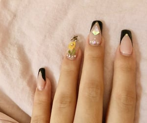 beauty, happy, and manicure image