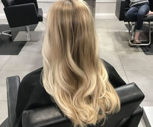 hair, blonde, and design image