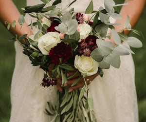 aesthetics, bouquet, and dress image