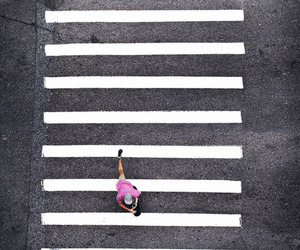 street, pink, and skate image