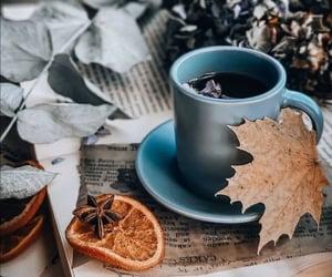 autumn, cup of tea, and tea image