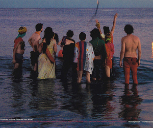 beach, sea, and MGMT image