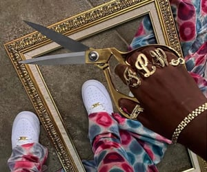 aesthetic, gold, and shoes image