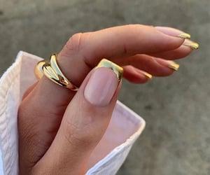 nails, gold, and fashion image