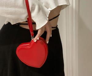 black, fashion, and heart image