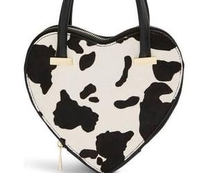 animal print, purse, and cow image