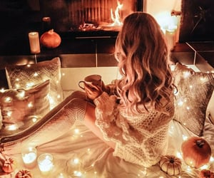 autumn, baby, and candles image