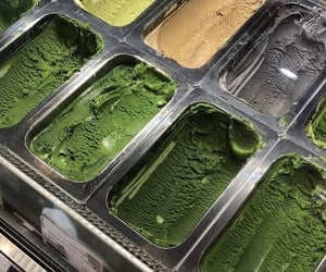 green, ice cream, and food image