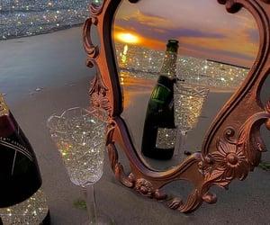 beach, mirror, and sea image