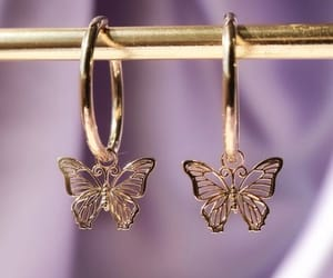 butterfly, accessories, and earrings image