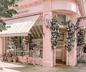 store, pastel pink, and pink store image