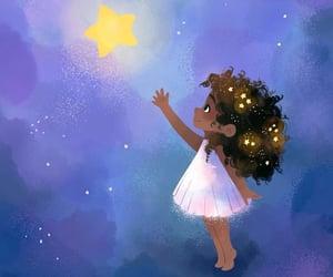 art, black, and stars image
