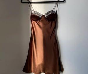 fashion, brown, and dress image