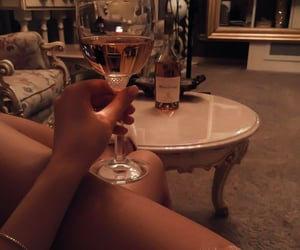 beverage, champagne, and rose image