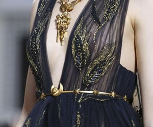 dark blue, dress, and fashion image