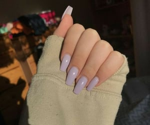 lilac, nails, and acrylic nails image
