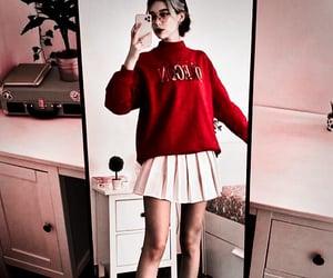 converse, rouge, and sweatshirt image