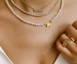 gemini, pearls, and diamomds image