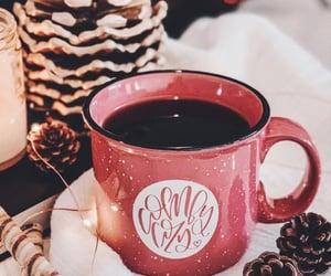 acorns, hot chocolate, and christmas image