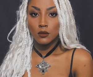 black, goth, and Piercings image