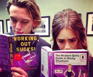 book, Jamie Campbell Bower, and lily collins image