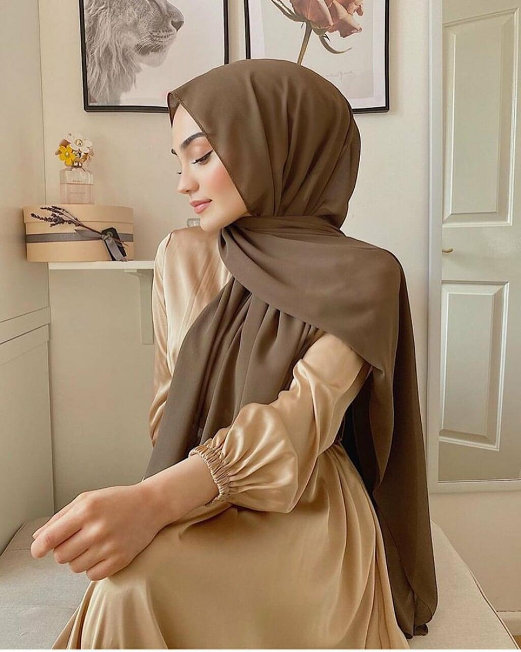 hijab, dress, and fashion image