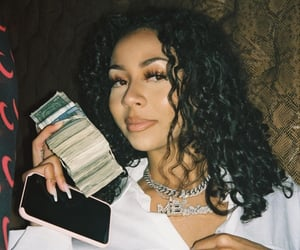 curly, money, and baddie image