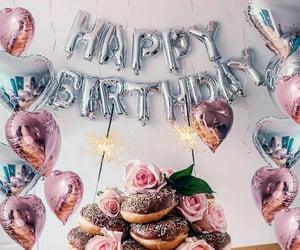 happy birthday, balloons, and birthdays image