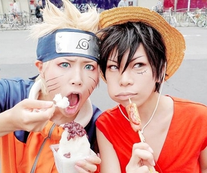 naruto, one piece, and cosplay image