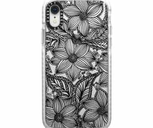 black, clearcase, and flowers image