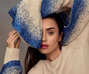 lily collins, actress, and magazine image
