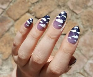 purplenails, clouds, and freehand image
