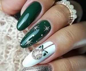 nails, green, and christmas image