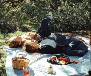 aesthetic, picnic, and love image