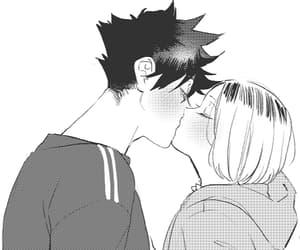 anime, fanart, and black and white image
