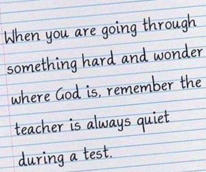 god, quiet, and quotes image