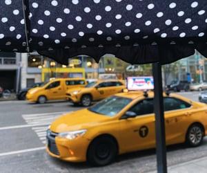 new york, nyc, and yellow cab image