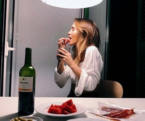 food, dinner, and girl image