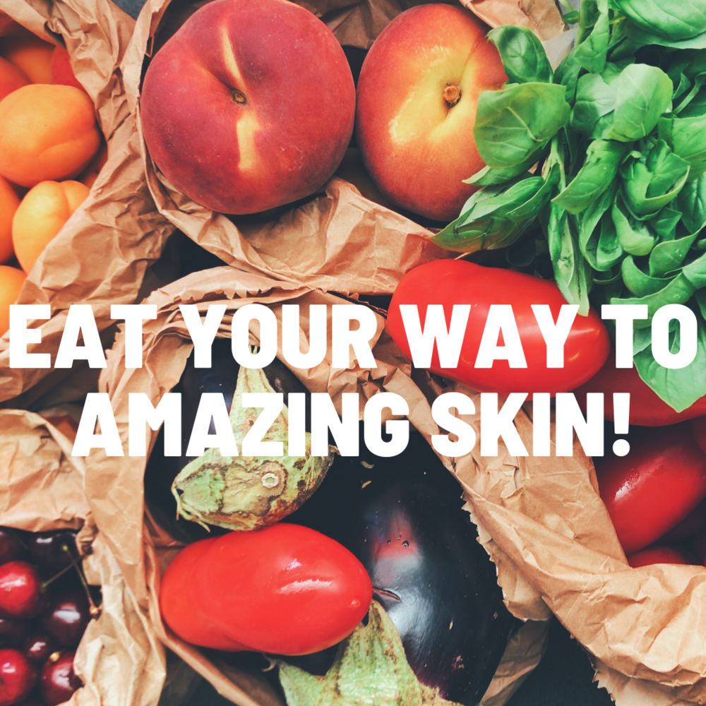 article, food, and skincare image
