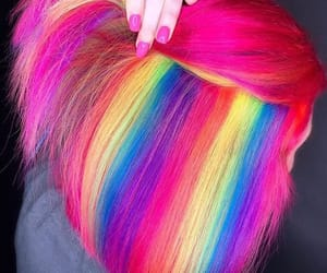 colorful hair, dyed hair, and rainbow hair image