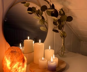beige, candle, and cozy image