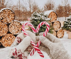 christmas, winter, and candy cane image