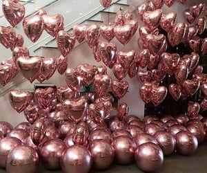 balloons, pink, and rose gold image