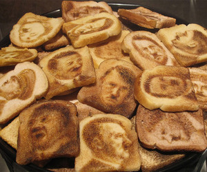 bread, hitler, and toast image